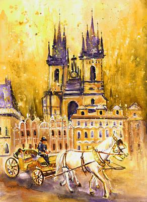 Czech Republic Painting - Prague Authentic 02 by Miki De Goodaboom