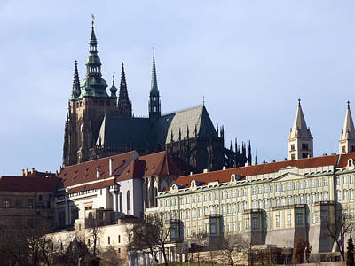 Prague Castle And St. Vitus Cathedral Print by Miroslav Nemecek