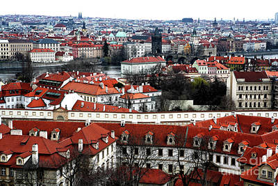 Red Roof Photograph - Prague City by John Rizzuto