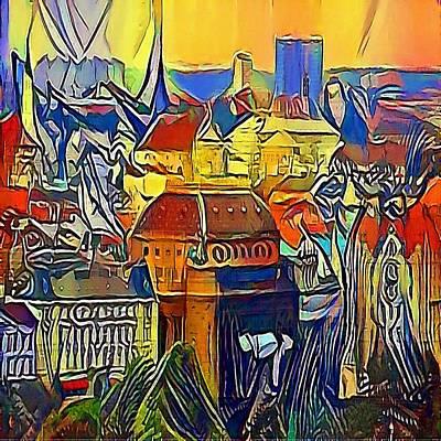 Praha Drawing - Prague City - My Www Vikinek-art.com by Viktor Lebeda