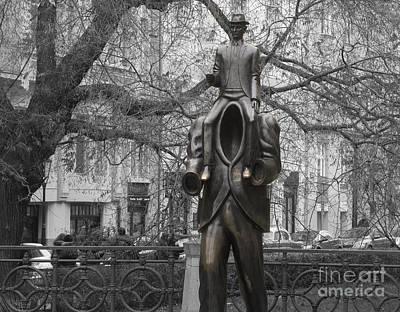 Czech Republic Photograph - Prague. Franz Kafka Statue by Juli Scalzi