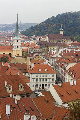 Prague Rooftops Print by Chris Smith