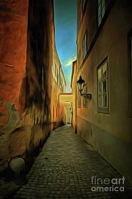 Cityspace Photograph - Prague Street - Historical Centre Of The Prague by Michal Boubin