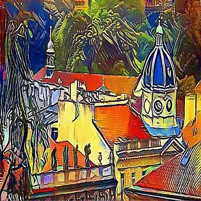 Praha Drawing - Prague Theater - My Www Vikinek-art.com by Viktor Lebeda