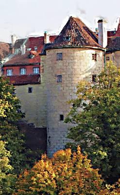 Praha Castle Print by Shawn Wallwork