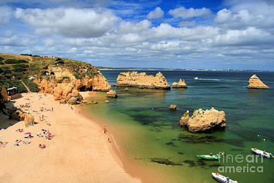 Landscapes Photograph - Praia Da Dona Ana by Carl Whitfield