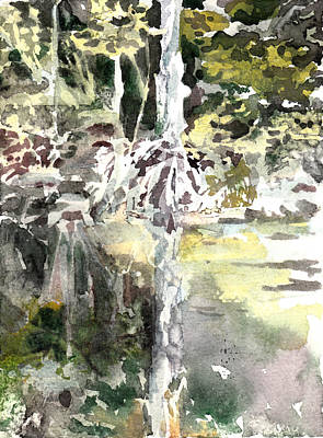 Praire Oaks Print by Mindy Newman
