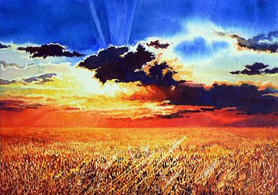 Prairie Sky Painting - Prairie Gold by Hanne Lore Koehler