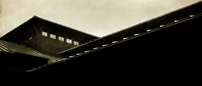 Overhang Photograph - Prairie Lines by Scott Norris