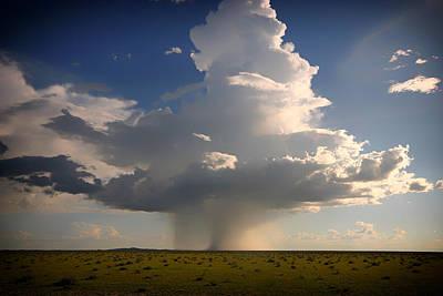 Prairie Rain Funnel Cloud Print by Mountain Dreams