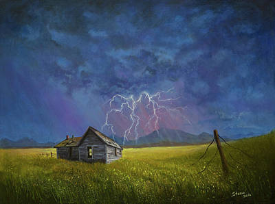 Prairie Storm Print by C Steele
