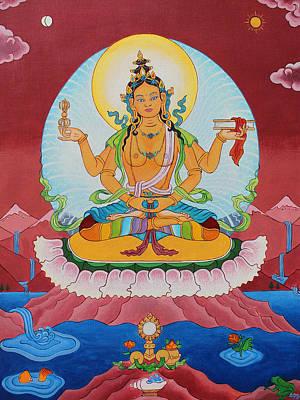 Tibetan Buddhism Painting - Prajnaparamita by Sarah Grubb