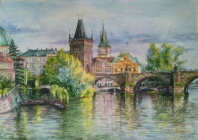 Praque. Charles Bridge Original by Svetlana Matevosjan Art