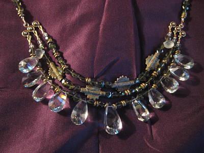 14k Jewelry - Prasiolite And Tourmaline Necklace by Jan Durand