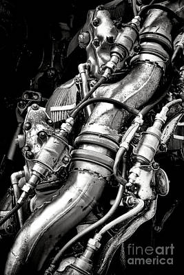 Pratt And Whitney Engine Print by Olivier Le Queinec