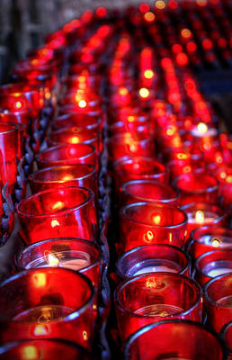 Digital Art - Prayer Candles by Dan Stone