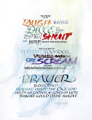 Prayer Print by Judy Dodds