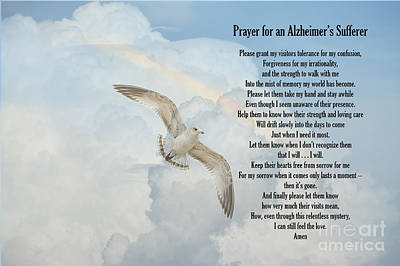Prayer For An Alzheimer's Sufferer Print by Bonnie Barry