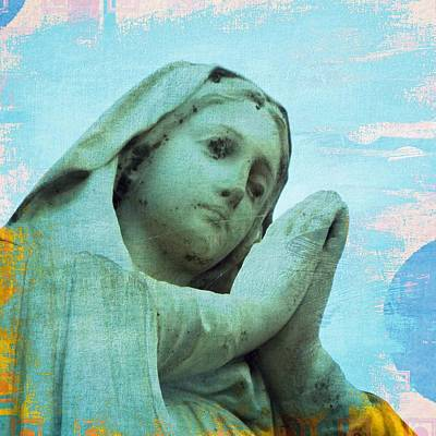 Madonna Digital Art - Prayers by Kathy Franklin