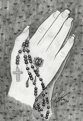 Praying Hands Print by Joce Ruston