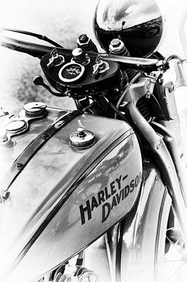 Motorbike Photograph - Pre War Hd by Tim Gainey