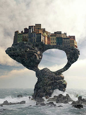 Ruins Digital Art - Precarious by Cynthia Decker