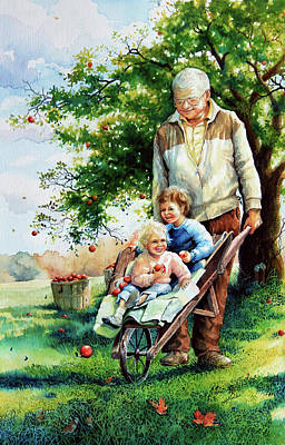 Apple Orchards Painting - Precious Cargo by Hanne Lore Koehler
