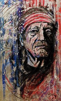 Red Head Mixed Media - Precious Metals, Willie by Debi Starr