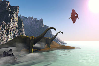 Prehistoric World Print by Corey Ford