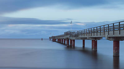 Prerow Pier Print by Andreas Levi