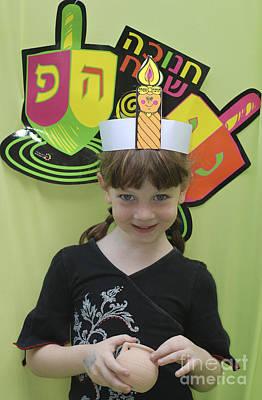 Hanukah Photograph - Preschool Hanukah Celebration by Amir Paz