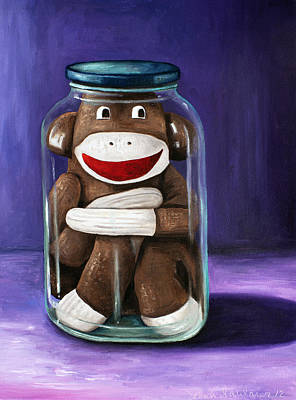 Monkey Painting - Preserving Childhood 3 by Leah Saulnier The Painting Maniac