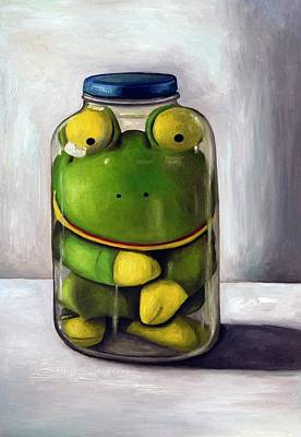 Frogs Painting - Preserving Childhood by Leah Saulnier The Painting Maniac