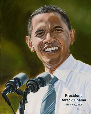 Inauguration Painting - President Barack Obama by Christopher Oakley