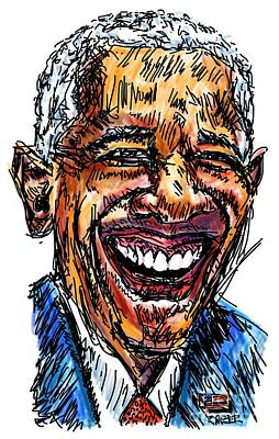 President Barack Obama Print by Robert Yaeger