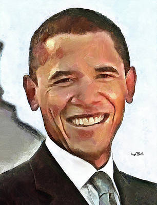 Barack Obama Painting - President Barack Obama by Wayne Pascall