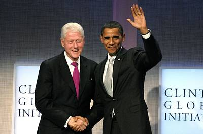 The Obamas Photograph - President Bill Clinton, President by Everett