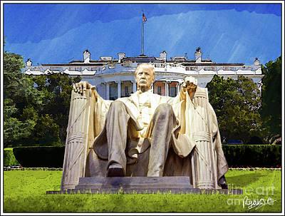 Whitehouse Digital Art - President Donald Trump by Ryan Anthony