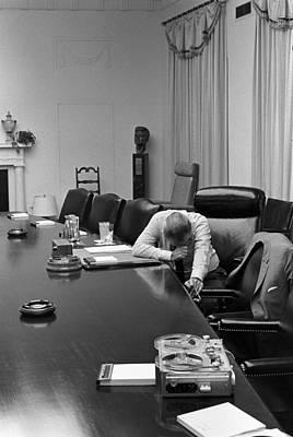 Lyndon Photograph - President Johnson Appears Agonized by Everett
