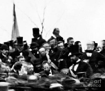 President Lincoln, Cemetery Dedication Print by Science Source