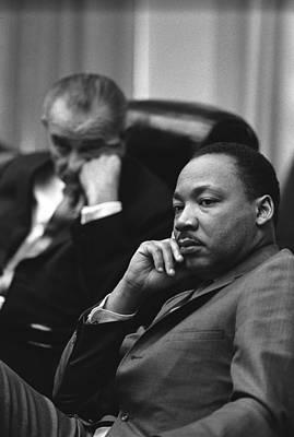 Lyndon Photograph - President Lyndon Johnson And Martin by Everett