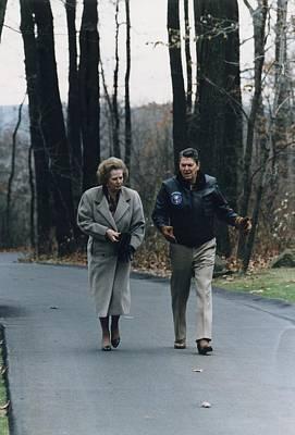 President Reagan Walking Print by Everett