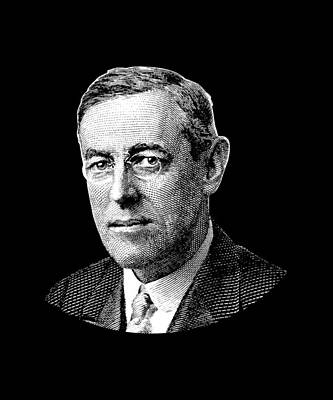 President Woodrow Wilson Graphic Print by War Is Hell Store