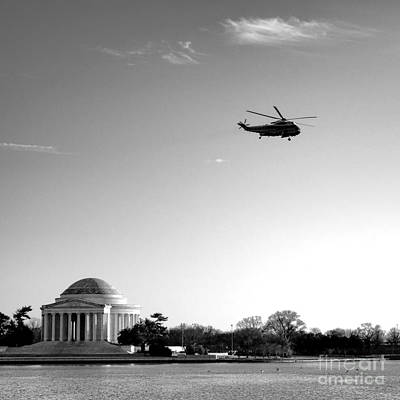 Helicopter Photograph - Presidential Salute by Olivier Le Queinec