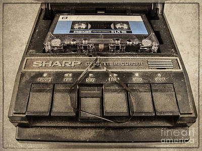 Tape Player Photograph - Press To Play  by Rob Hawkins