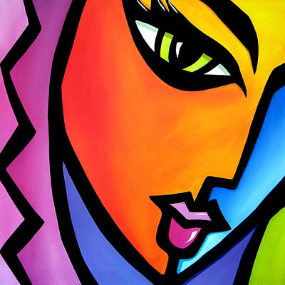 Pretending - Original Pop Art Original by Tom Fedro - Fidostudio