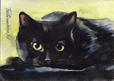 Cat Images Painting - Pretty Eyes by Yuliya Podlinnova