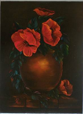 Lisa Rodriguez Painting - Pretty Poppies  by Lisa Rodriguez