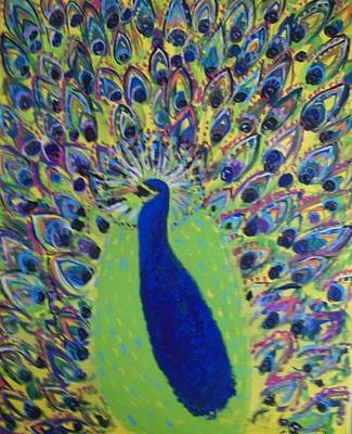 Gerry Painting - Pretty Proud Peacock by Seaux-N-Seau Soileau