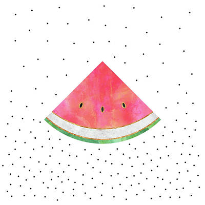 Orange Digital Art - Pretty Watermelon by Elisabeth Fredriksson